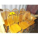 LOT/ (6) WOODEN CHAIRS (STORED IN SEA CONTAINER)