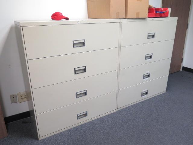 Lot 471 - Desk, File Cabinets