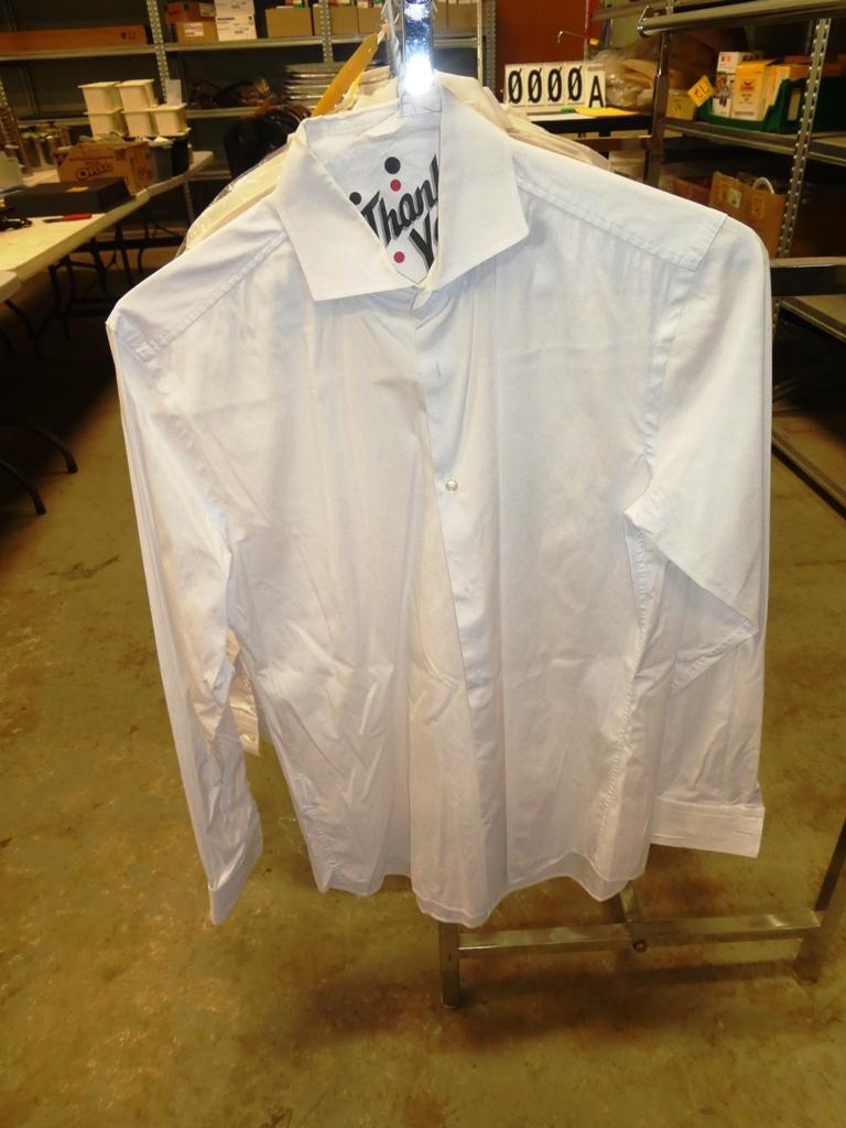 Lot 1 - L/O 15 HUGO BOSS WHITE DRESS SHIRTS - SLIM FIT, STRETCH