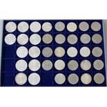 Deutsche Sondermünzen 5 und 10DM, tw. Silber24x 5 DM, tw. Silber; 12x 10DM Olympiade München 1972,