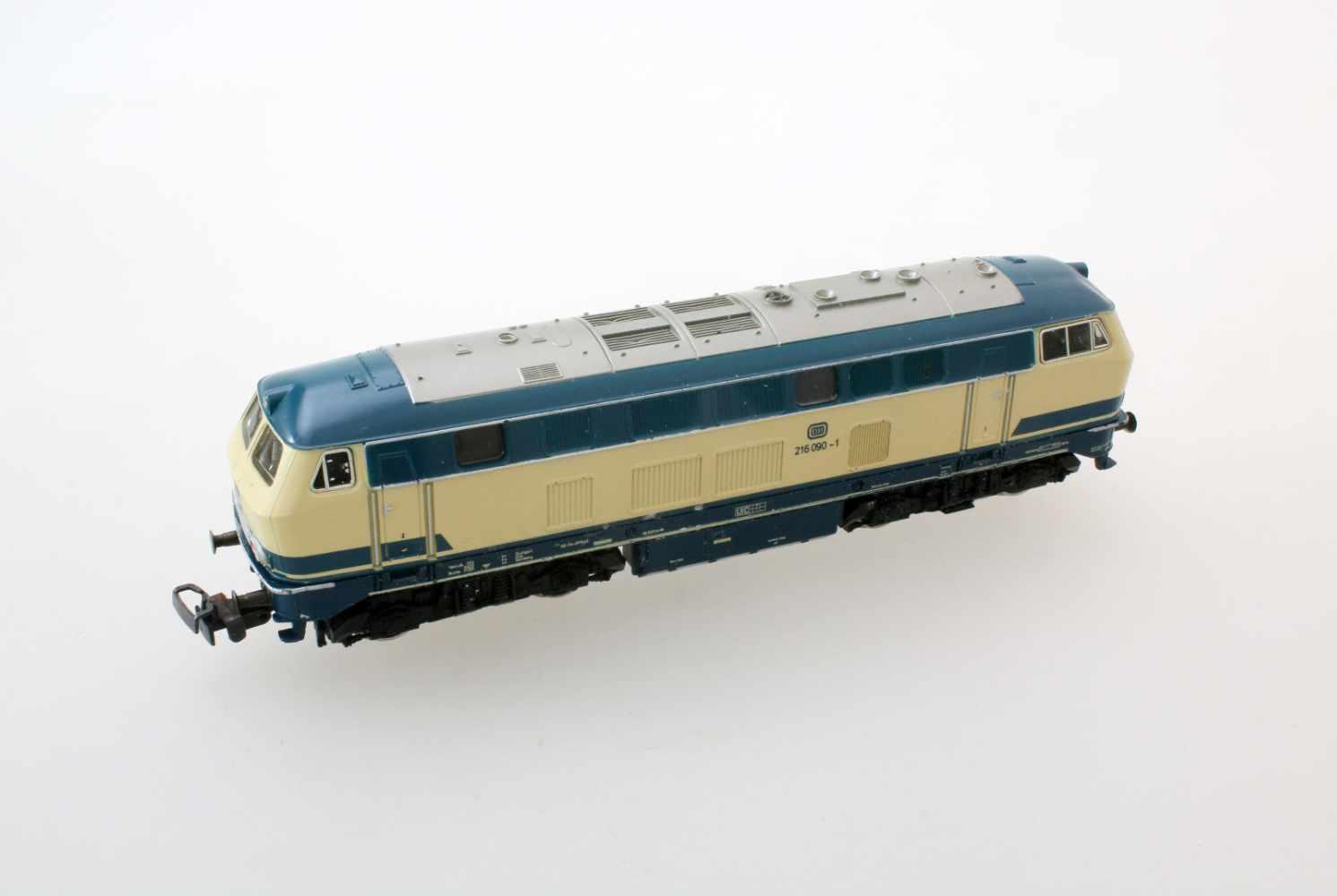 Märklin - Hamo-Lok 3074Modell BR 216, Spurweite HO, Gleichstrom, etwas Gebrauchspuren, im - Bild 2 aus 3