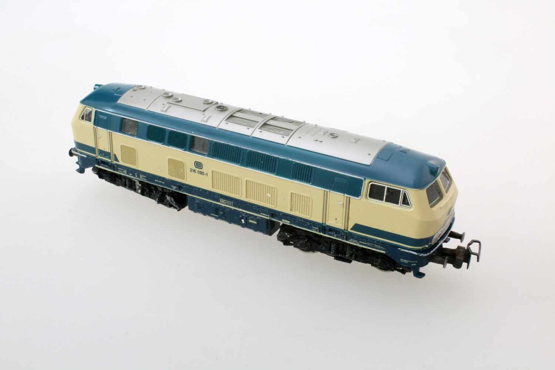 Märklin - Hamo-Lok 3074Modell BR 216, Spurweite HO, Gleichstrom, etwas Gebrauchspuren, im