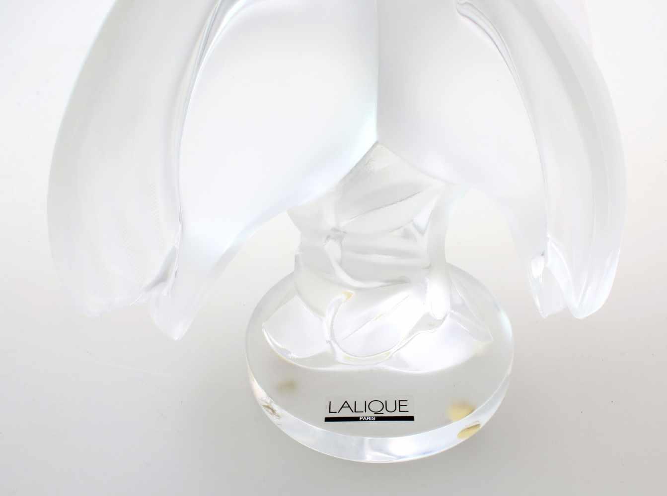 """Glasplastik """"Ariane"""" - Taubenpaar - Lalique - ParisAm Sockel diamantgeschnittene Signatur """" - Bild 4 aus 4"""