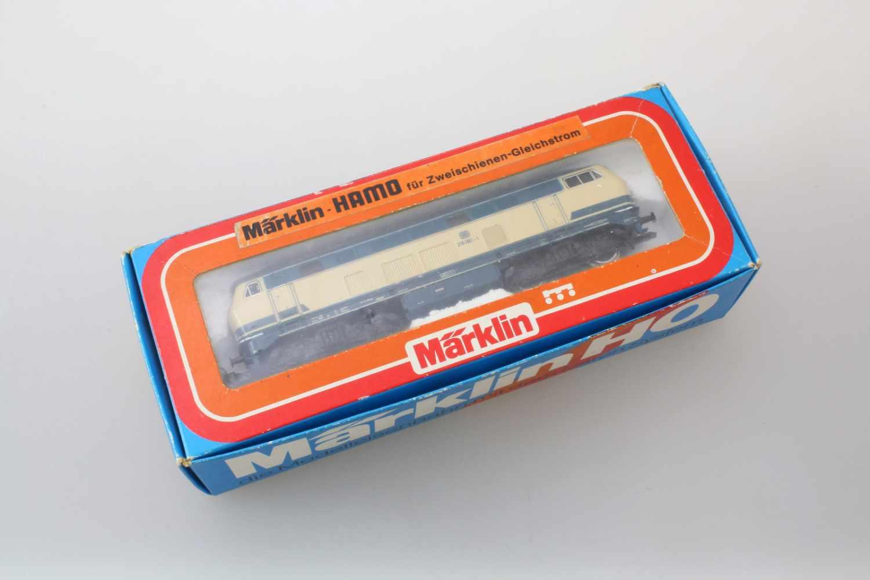 Märklin - Hamo-Lok 3074Modell BR 216, Spurweite HO, Gleichstrom, etwas Gebrauchspuren, im - Bild 3 aus 3