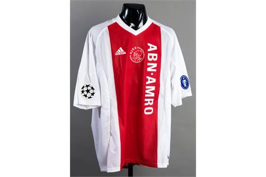 size 40 e23c3 ac2d6 Zlatan Ibrahimovic: a red & white Ajax No.9 Champions League ...