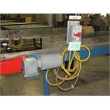 """Powered belt conveyor (4.5"""" belting) Boston Gear Box -- (RIGGING INCLUDED WITH SALE PRICE) --"""