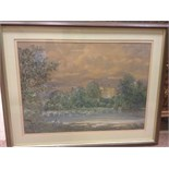 Lot 1260 - P. A. SCHORR, LANDSCAPE VIEW OF FIGURES BY A LAKE watercolour on paper, signed 44cm x 61cm Mounted,