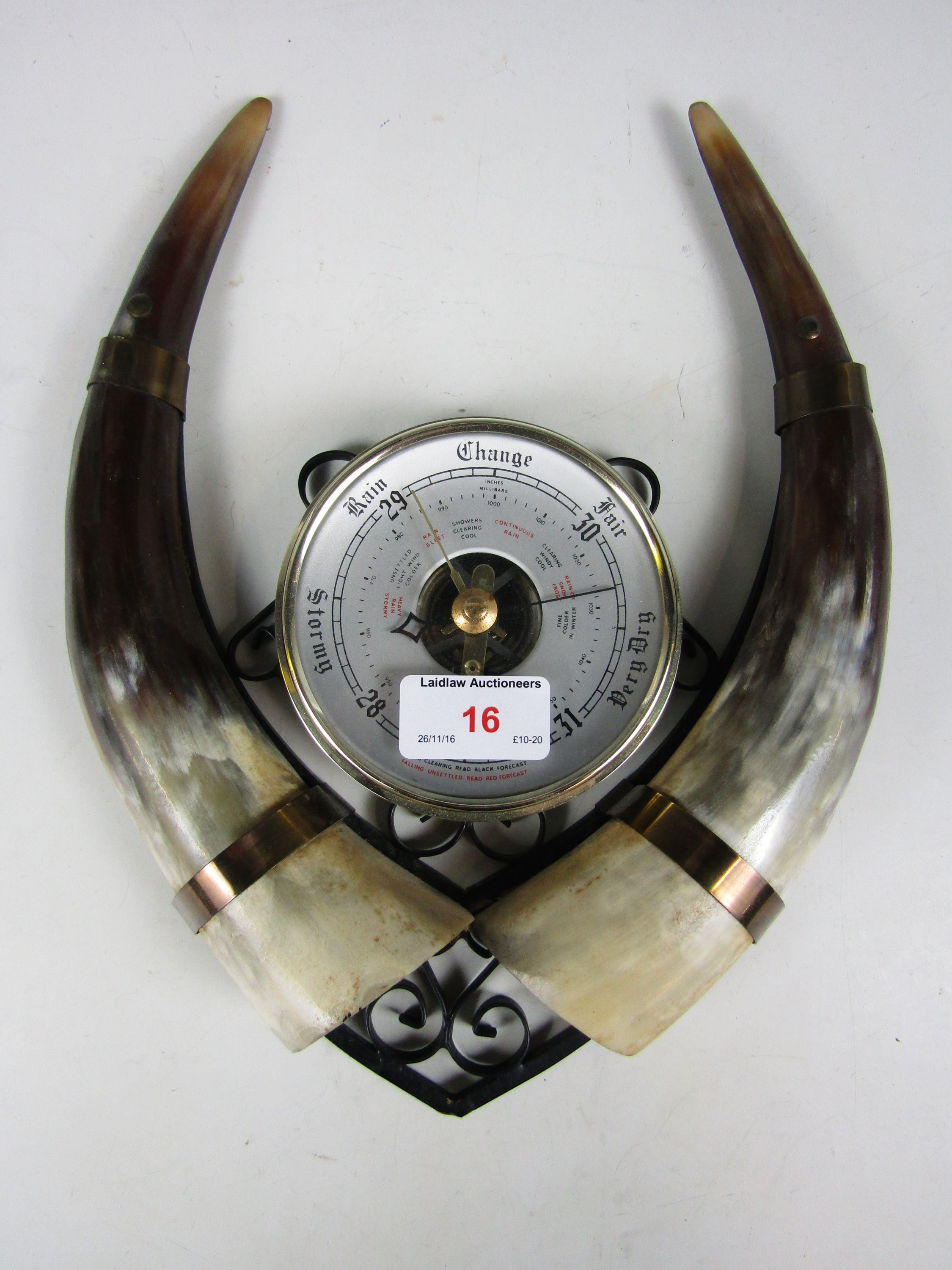 Lot 16 - A kitsch mid 20th Century barometer