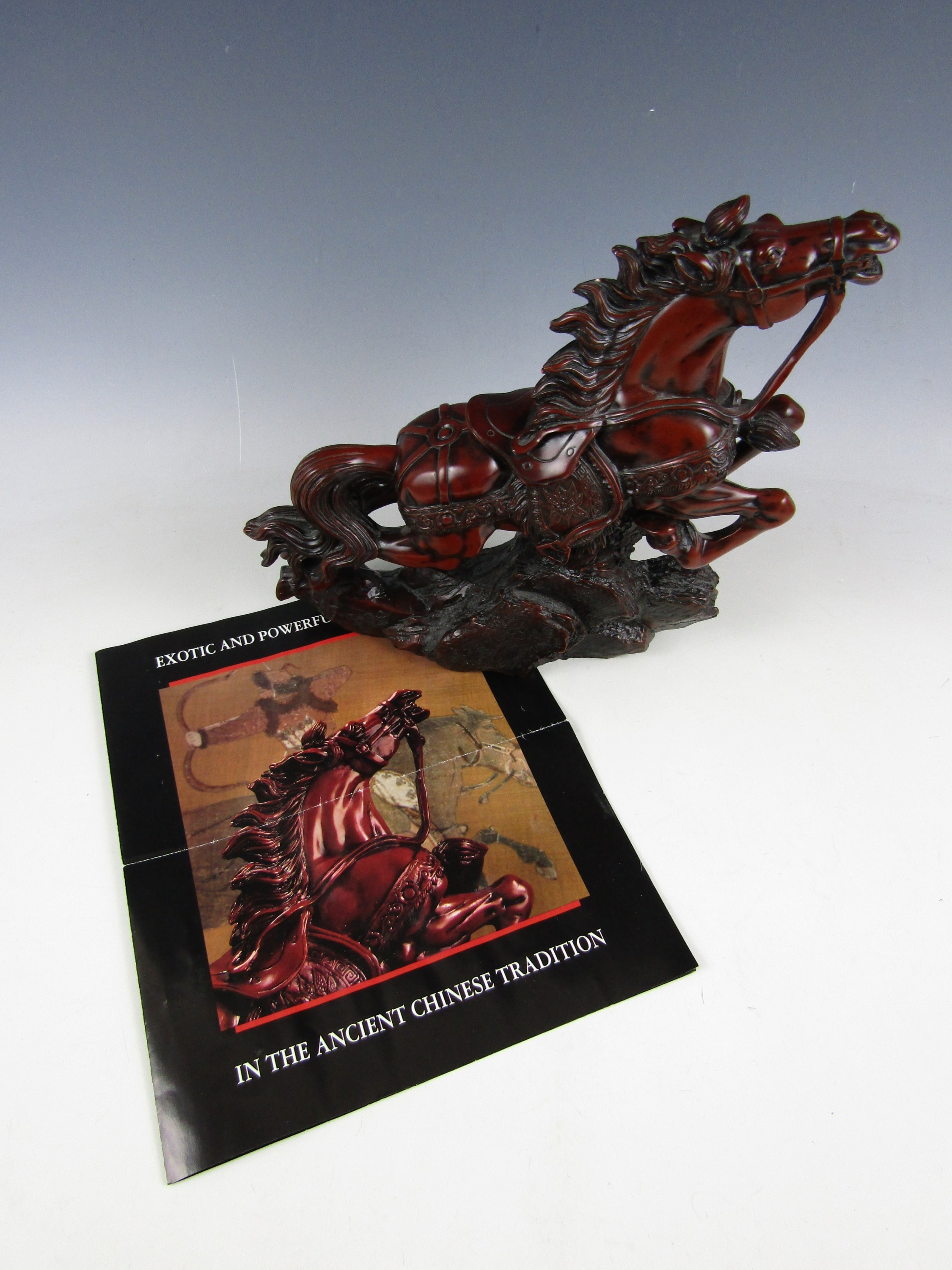 Lot 51 - A Franklin Mint figurine The Mighty Warhorse of Genghis Khan