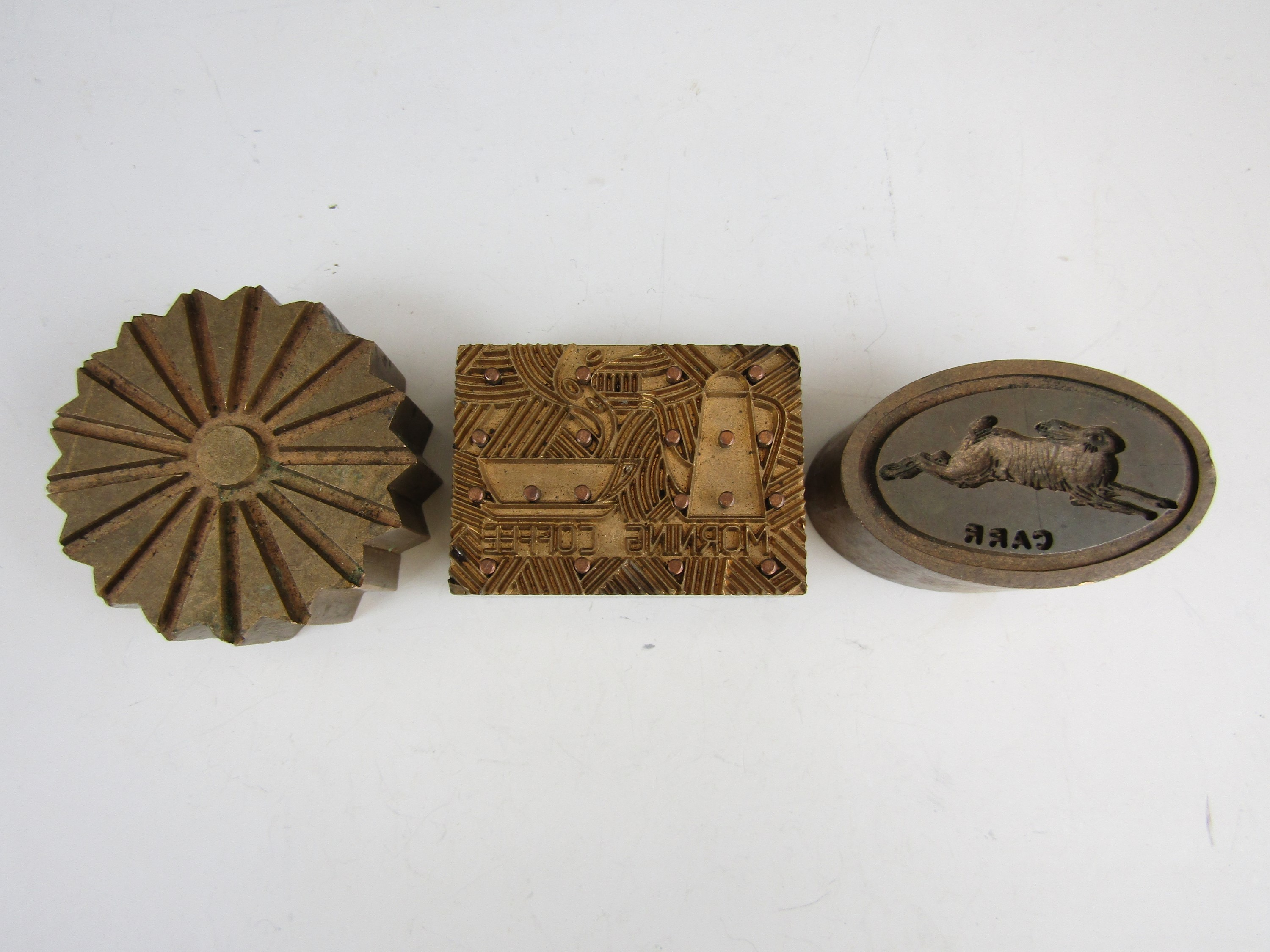 Lot 41 - Three vintage embossing dies, one entitled 'Morning Coffee'