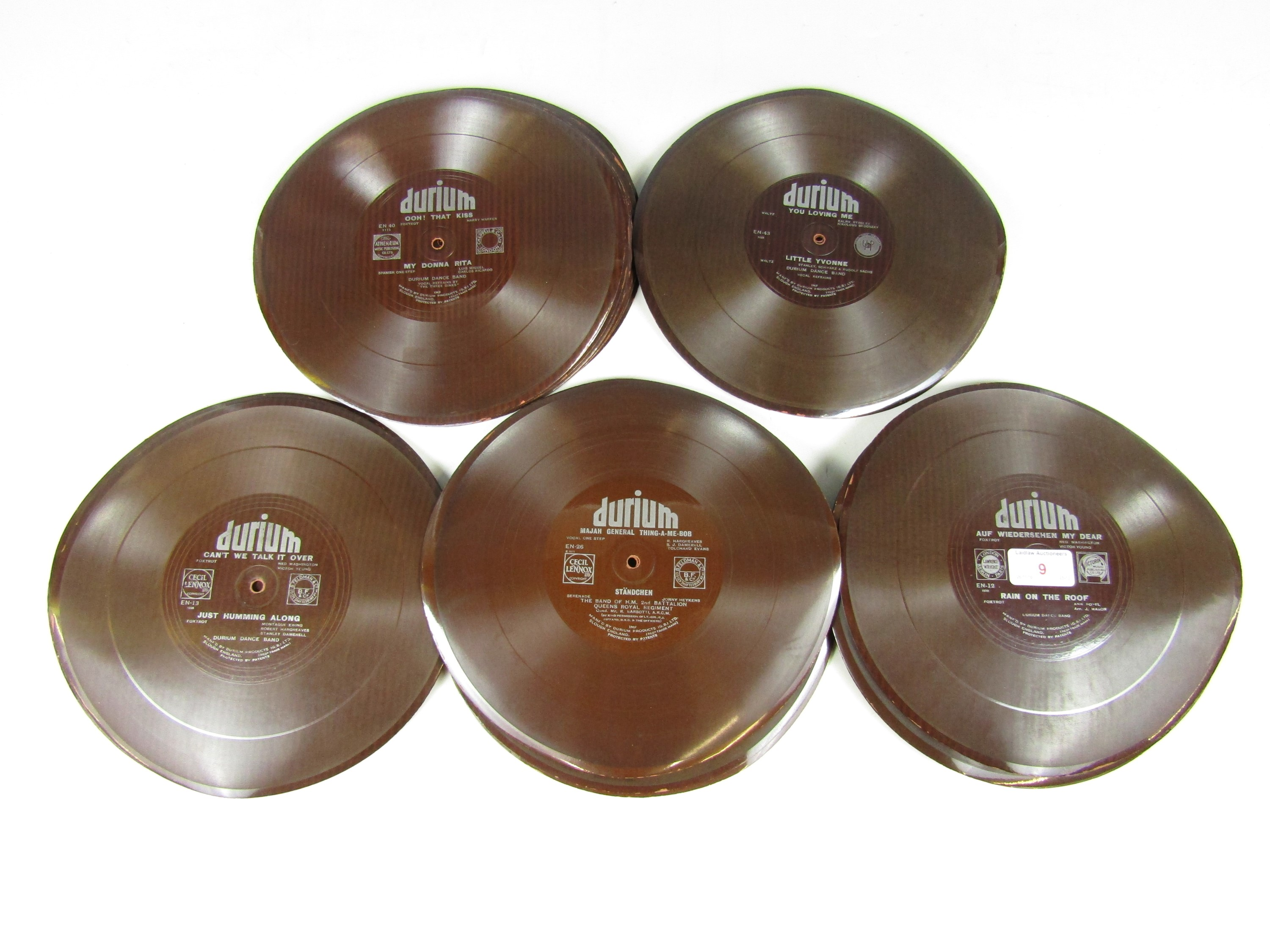 Lot 9 - A quantity of vintage Durium single-side Gramophone records