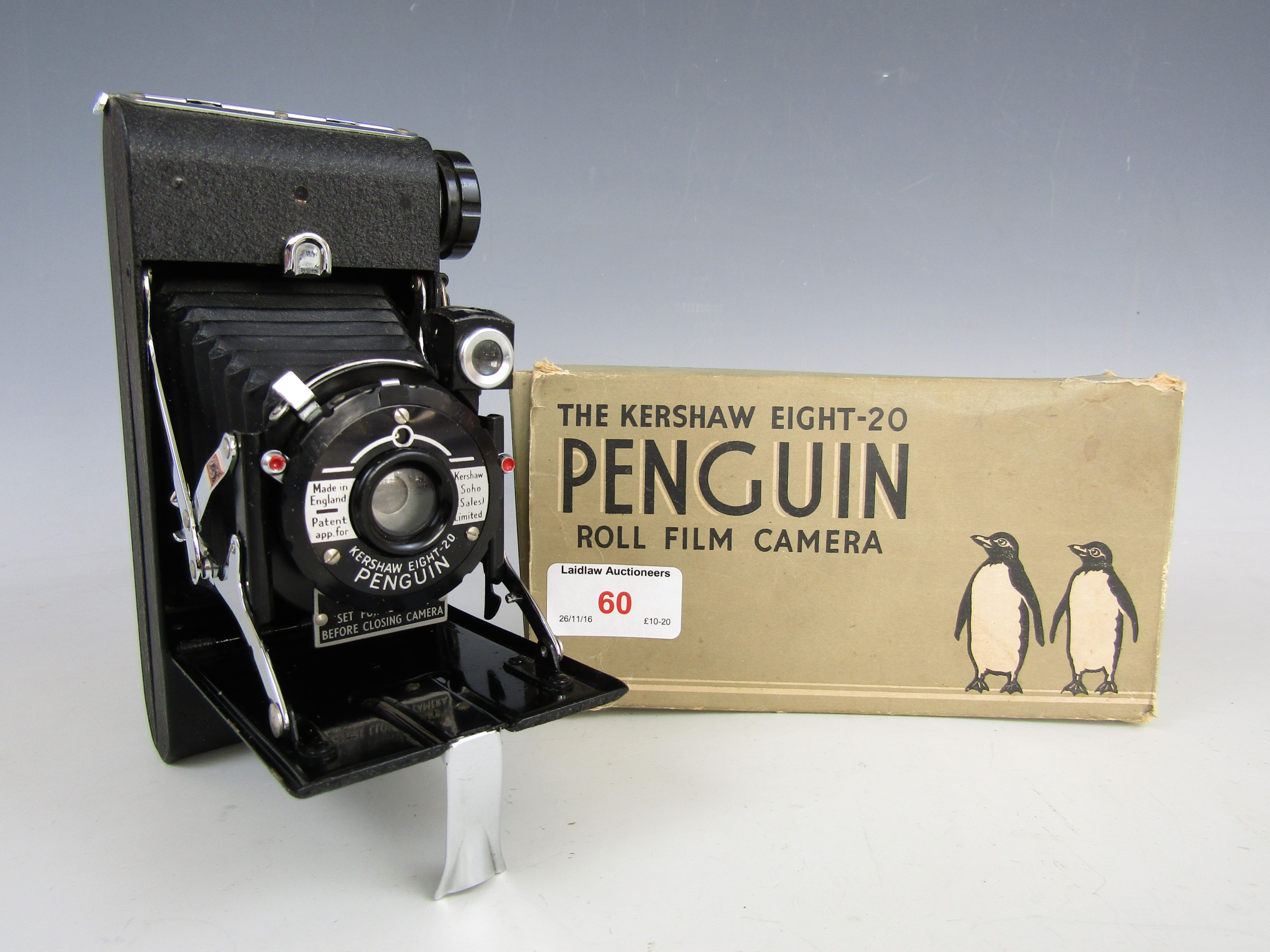 Lot 60 - A boxed Kershaw Eight-20 Penguin roll film camera