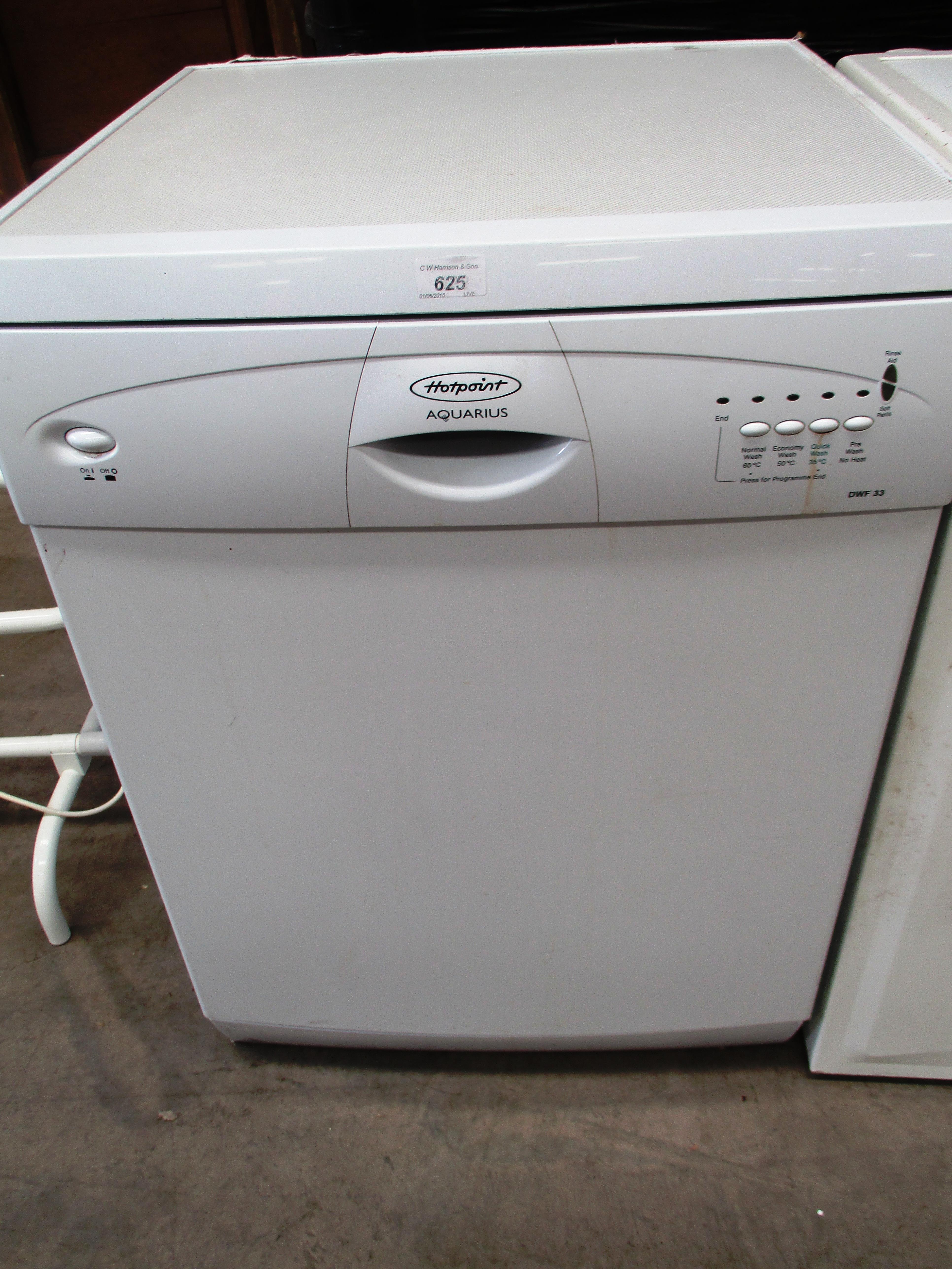 hotpoint aquarius dwf33 dishwasher rh i bidder com Hotpoint Dryer Manuals Hotpoint User Manuals
