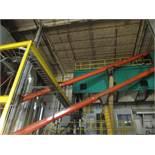 "Superflo 10"" x Approx. 70' Chain Drag Incline Conveyor"