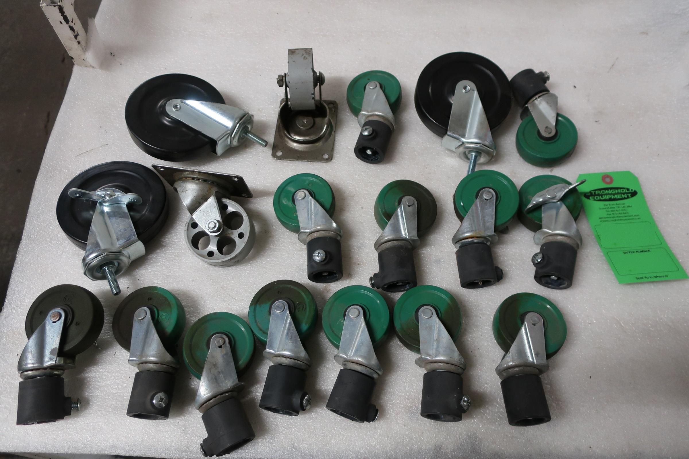 Lot 17 - Lot of Casters (wheels)