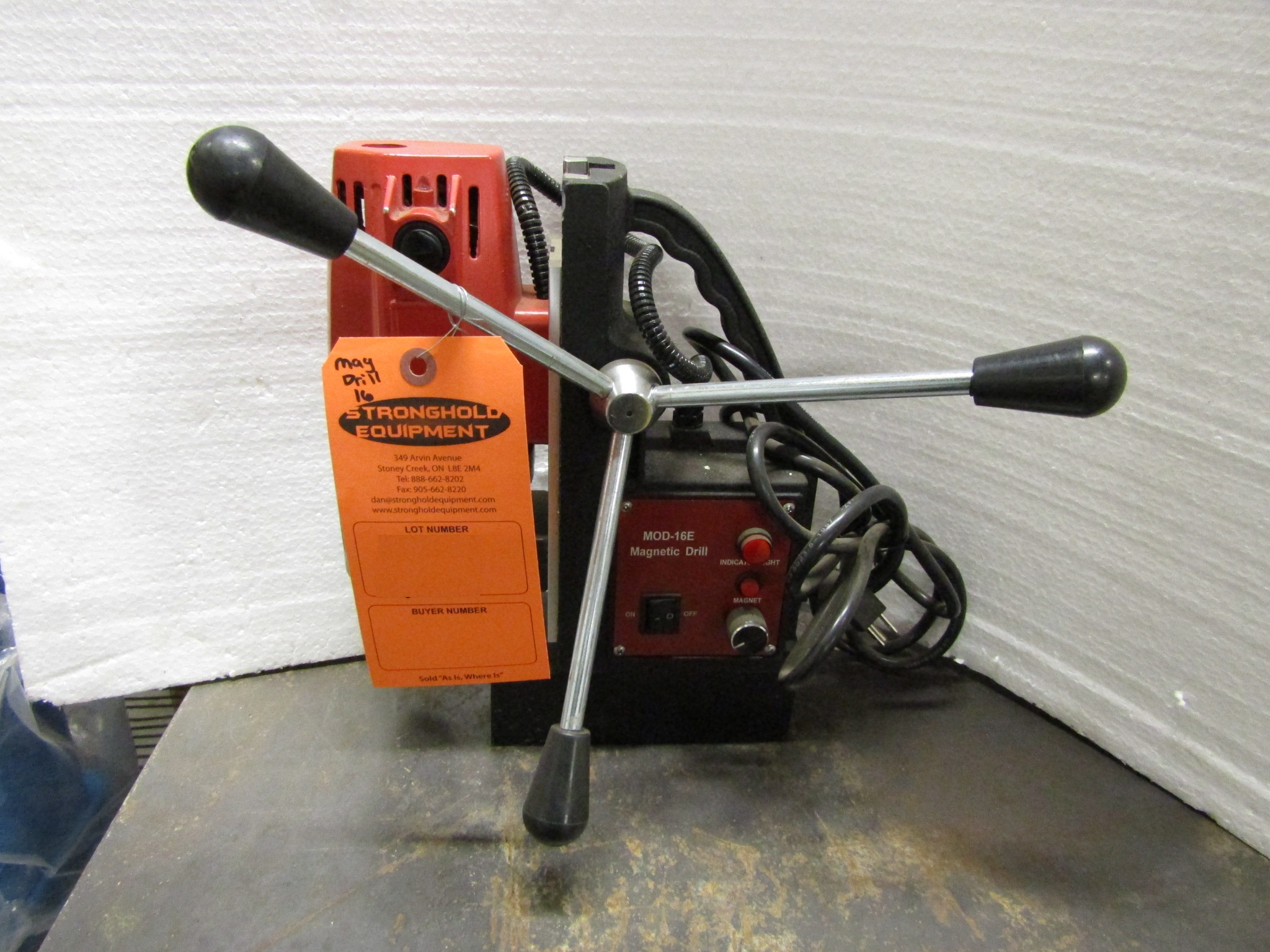 Lot 58 - Mag Drill COMPLETE with drill Chuck - 680RPM 110V MINT & UNUSED