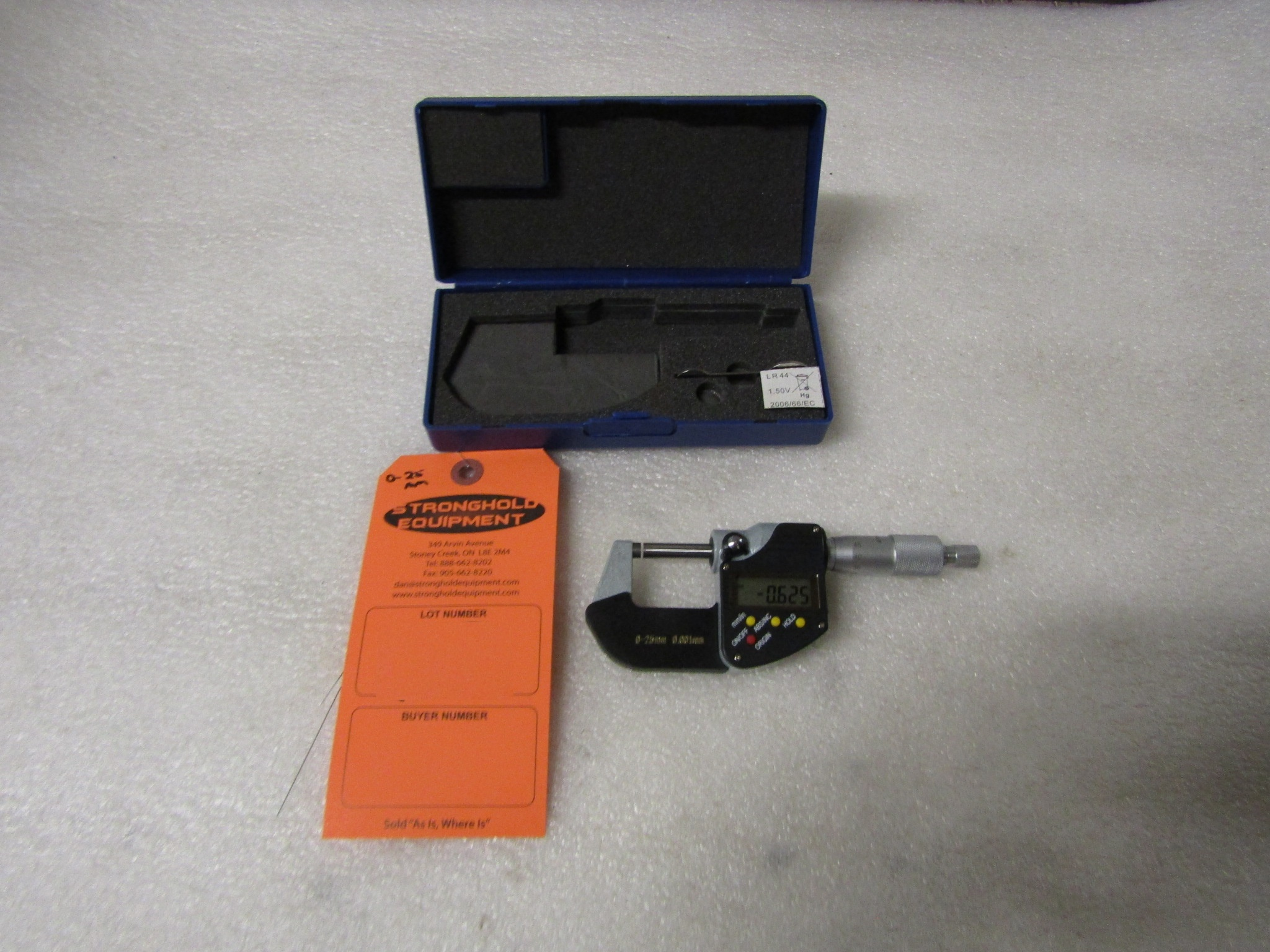 "Lot 51 - Mint 0-1"" / 0-25mm Digital Micrometer in case BRAND NEW"