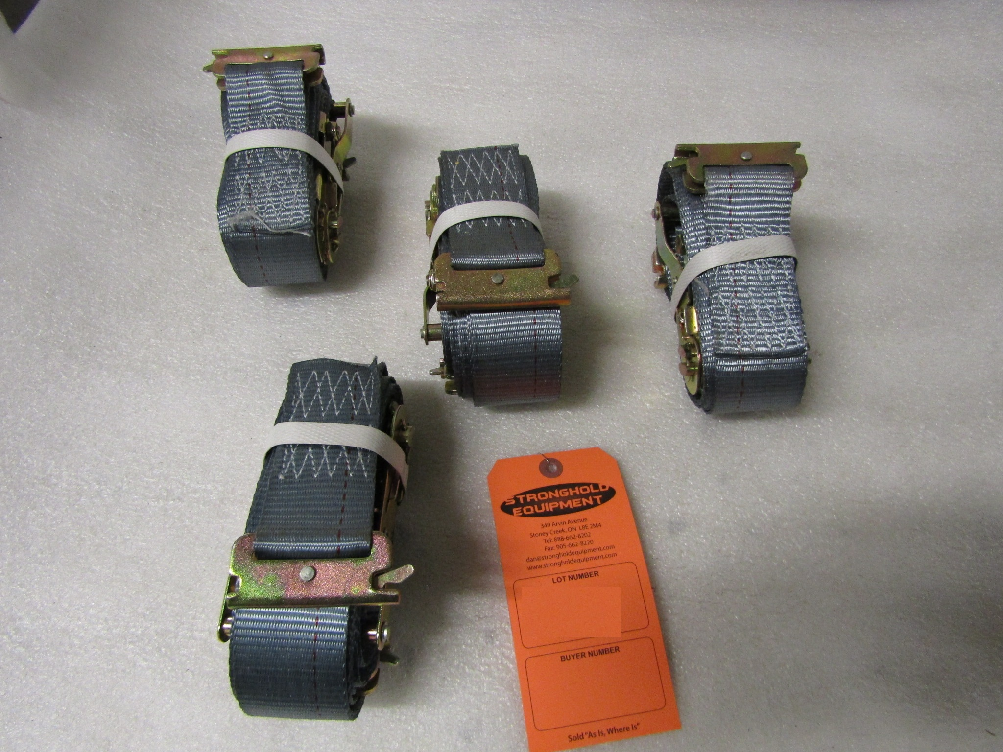 Lot 5 - Lot of 3 (3 units) Tie Down Ratchet Straps for truck use 15' length BRAND NEW