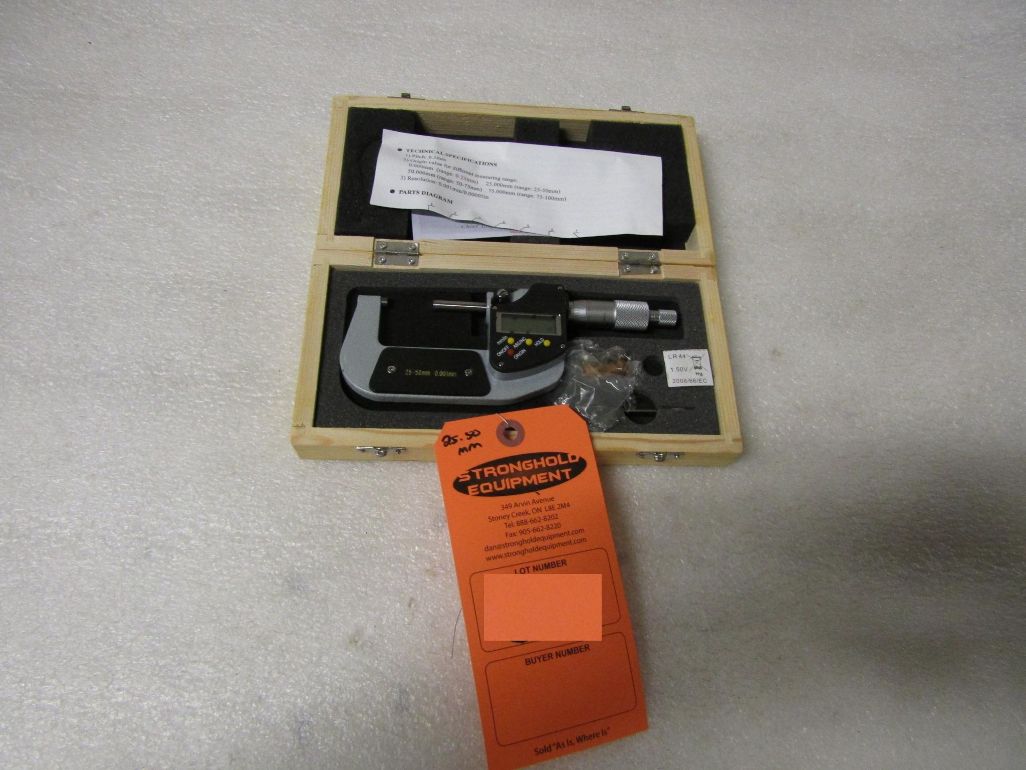 "Lot 52 - Mint 1-2"" / 25-50mm Digital Micrometer in case BRAND NEW"