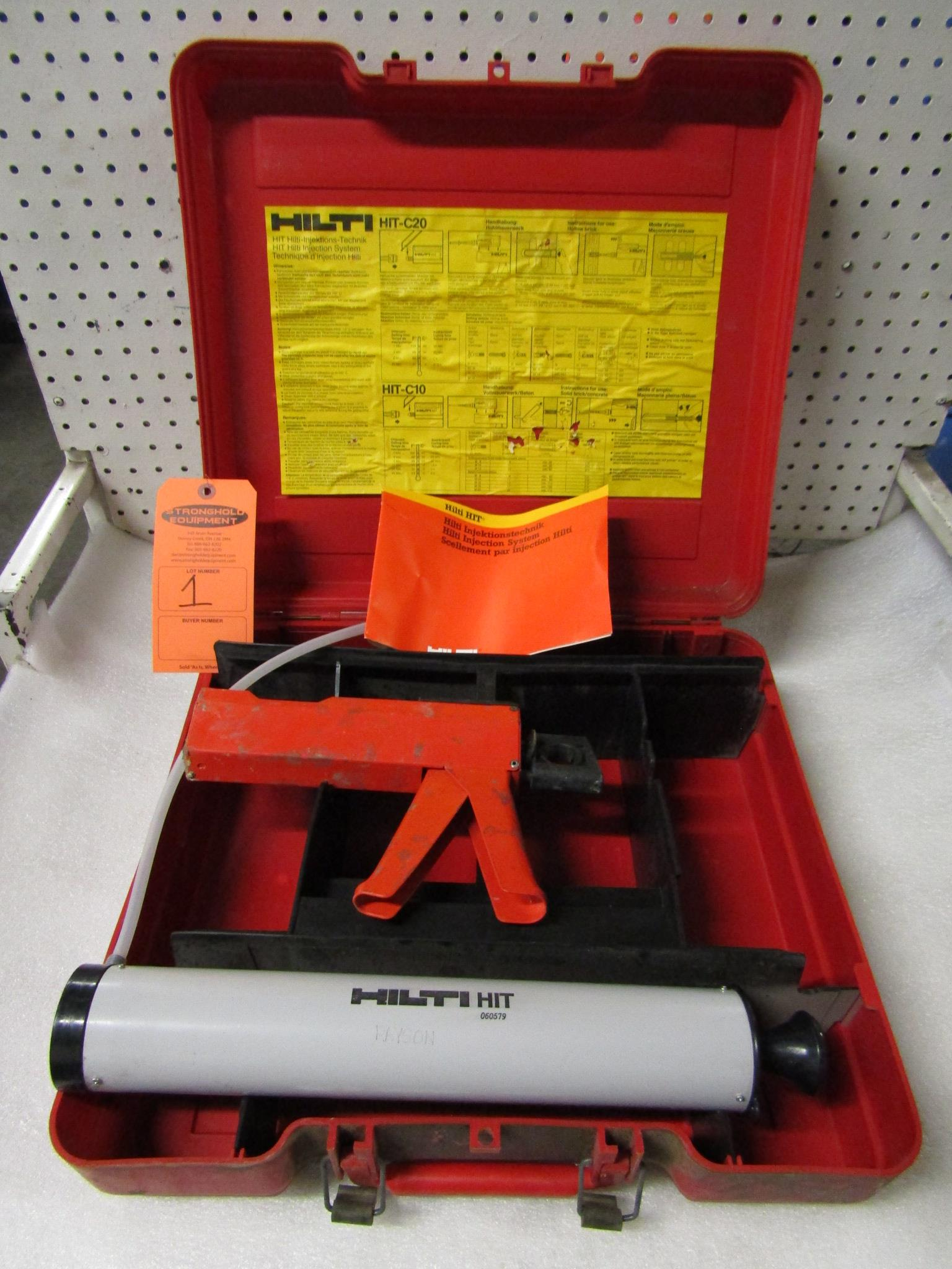Lot 1 - Hilti Injection System in case