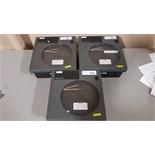 Lot of (3) Honeywell circular chart recorders, model DR4302