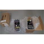 Lot of (3) Allen Bradley full voltage starters, Model 509-COD.