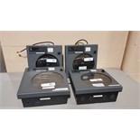 Lot of (4) Honeywell circular chart recorders, model DR4312.