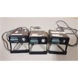 Lot of (3) Hart Scientific 9100 HDRC dry well temperature calibration units.