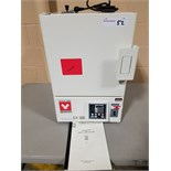 """Yamato gravity convection oven, model DX300, 11"""" x 11"""" x 12"""" H chamber, 115 volt."""