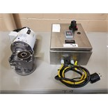 1 hp Baldor agitator drive, with controller, Fusion Fluid Equipment, model FW-3FL.