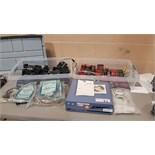 Lot of (14) GX-2003 toxic gas monitors, (4) GX-2001 monitors, with chargers, parts and Data-Cal 2000