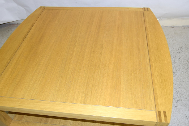 An oak coffee table with under tray 50 x 100 x 110 for Coffee table 80 x 50