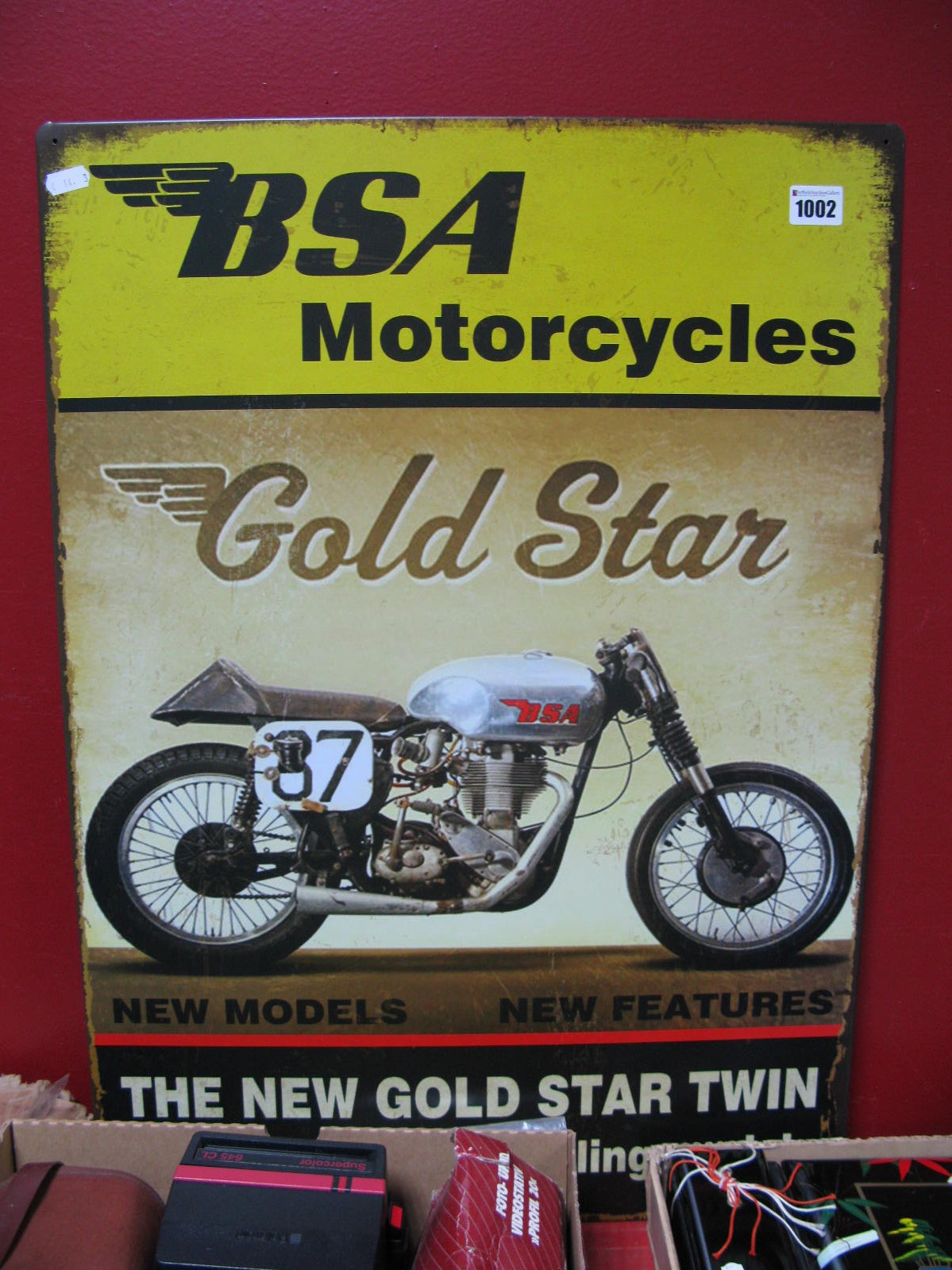 Lot 1002 - BSA Gold Star Wall Sign.