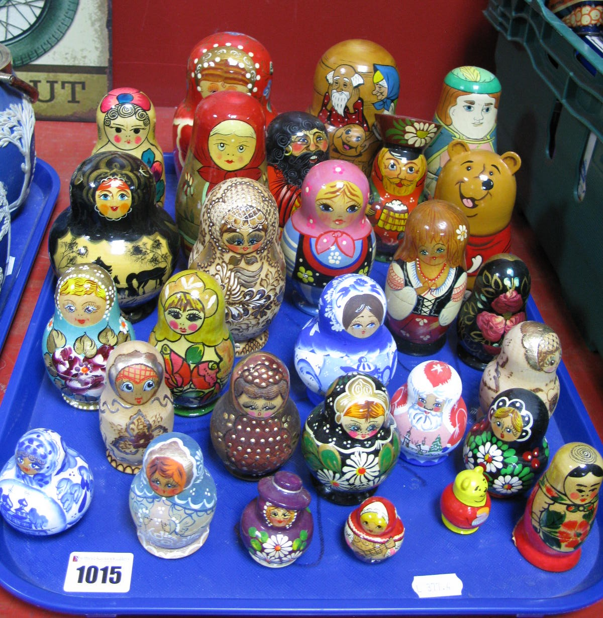 Lot 1015 - A Nice Collection of Over Twenty-Five Russian Doll Babushka's, varying sizes and designs including