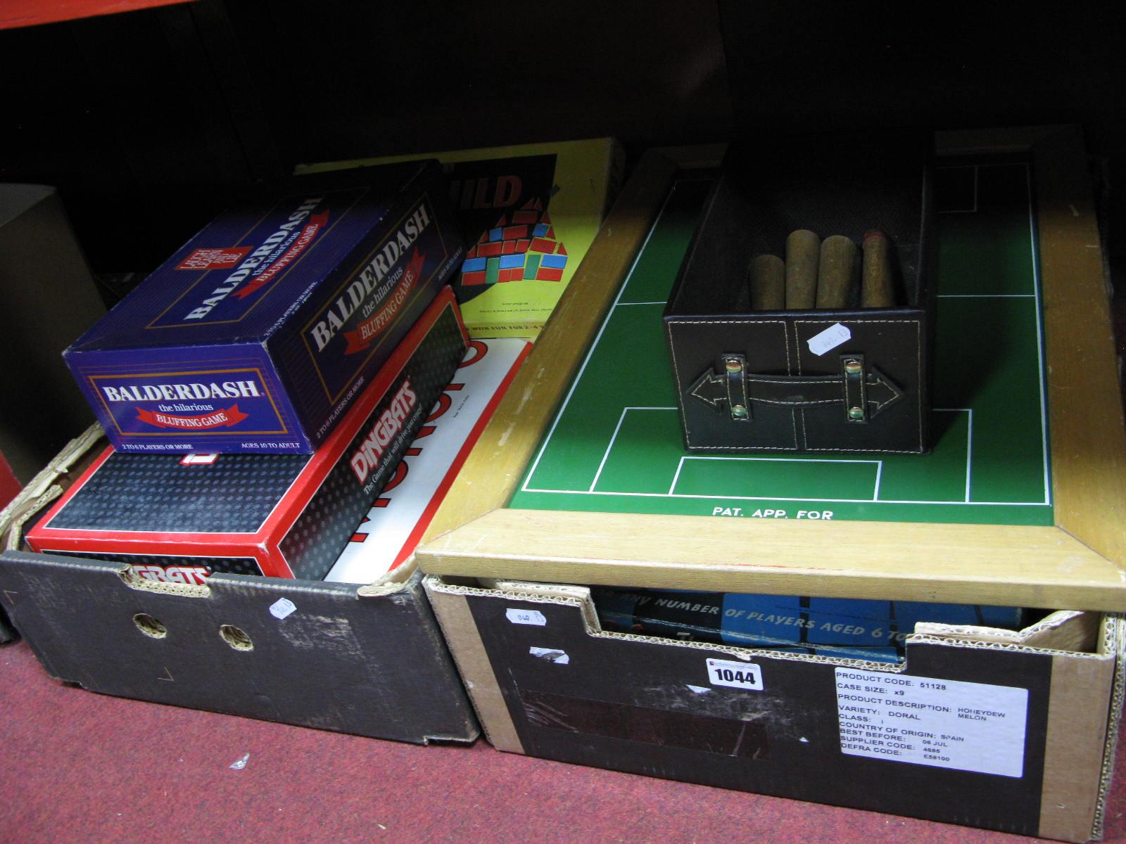 Lot 1044 - Board Games Monopoly; Digbats, Balderdash, Pais, other games, etc Two boxes.