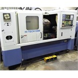 "HWACHEON HI-TECH 100B CNC TURNING CENTER WITH FANUC SERIES Oi-T CNC CONTROL WITH TRAVELS X-6.7"", Z-"