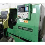 "MORI-SEIKI SL-25 CNC TURNING CENTER WITH FANUC SYSTEM 10-T CNC CONTROL, TRAVELS X-6.29"", Z-25.59"","