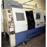 "HWACHEON HI-ECO31A CNC TURNING CENTER WITH FANUC O-T CNC CONTROL, TRAVELS X-9.9"", Z- 26"", SWING OVER"