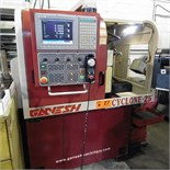 "GANESH CYCLONE 25 SWISS TYPE CNC TURNING CENTER WITH SYNTECH 900 CNC CONTROL, TRAVELS X-7.5"", Z-6."