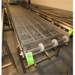 "Aprox. 17 ft 7"" L x 36"" W x 35"" H S/S Conveyor, with S/S Belt, Electric Drive & Bottom Belt Cleaning"