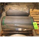 "Lot of (2) New Rolls of Ashworth 32"" W S/S Mesh Conveyor Belting, 75 ft L each, T304 S/S, Omni"