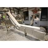 "S Configuration Portable S/S Conveyor System, 12 ft 4"" L x 30"" & 75"" H, with 8"" W Plastic Belt"