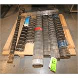 "Lot of (8) Assorted Rolls of Wire Belt S/S Mesh Conveyor Belting, Sizes Include 25"", 36"", 48"" &"