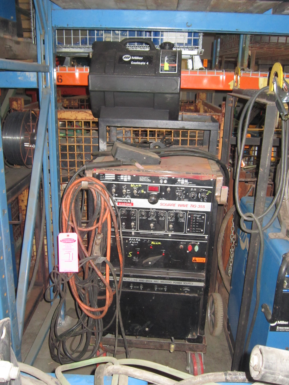 Ave Tig 355 Machine Michaelieclark Lincoln Foot Pedal Wiring Diagram Lot 71 Squarewave Welder With And Gun Cables