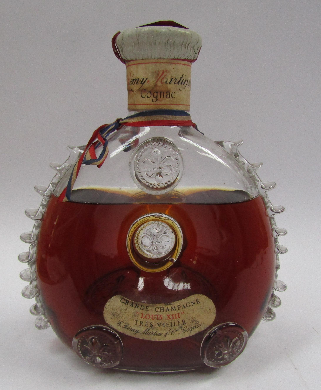 Remy Martin Louis XIII Cognac Tres Vieille, in Baccarat crystal decanter circa 1962-63,