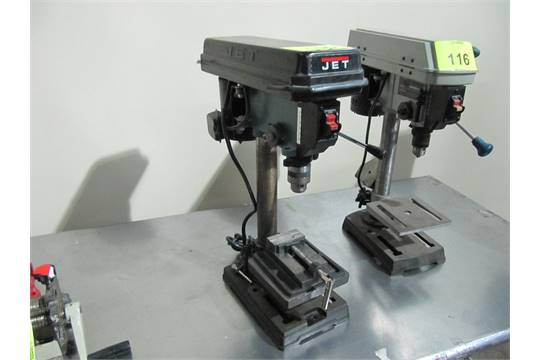 """Jet drill press, model JPD-8, s/n 6090169, bench top with 3"""""""