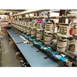 1995 BARUDAN NSME-YN-15 15 Head Embroidery Machine,