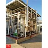 3-Tank Skid-Mounted CIP System with (3) 1000 Gallon S/S Tanks Fristam Centrifugal Pump with 30 HP