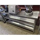 """18 x 75"""" 3 Tier Stainless Steel Table"""