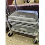 4 Grey Bussing Tubs with Lids